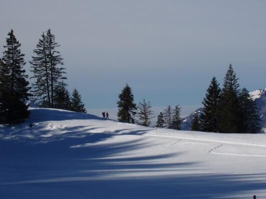 Winterlandschaft mit Schnee Zeit für Erkältungen