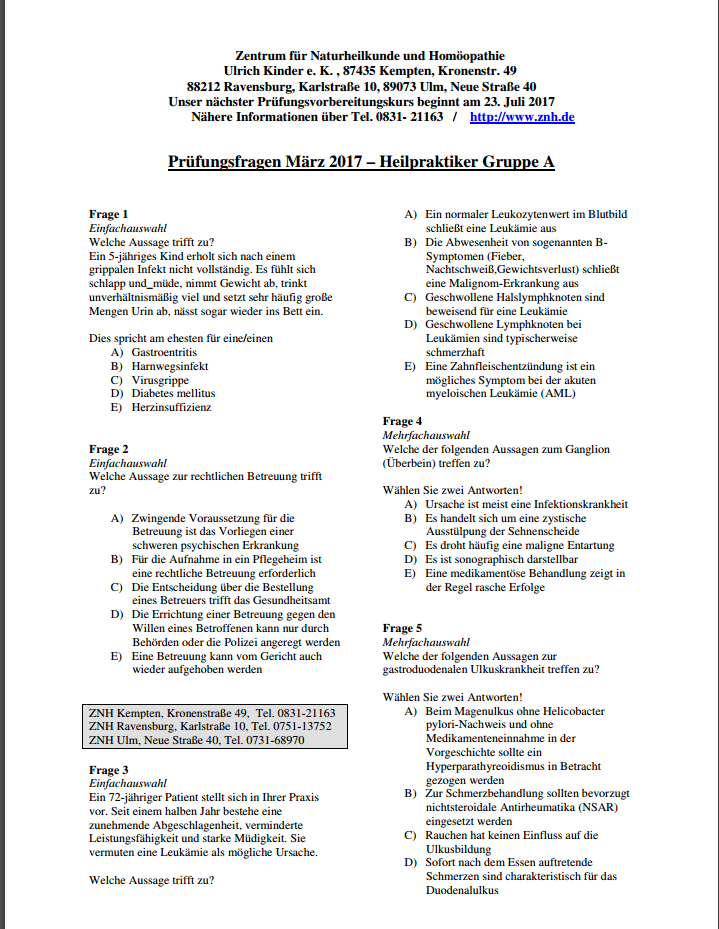 Praktikum - Hospitation - vor einer Praxsiseröffnung 2