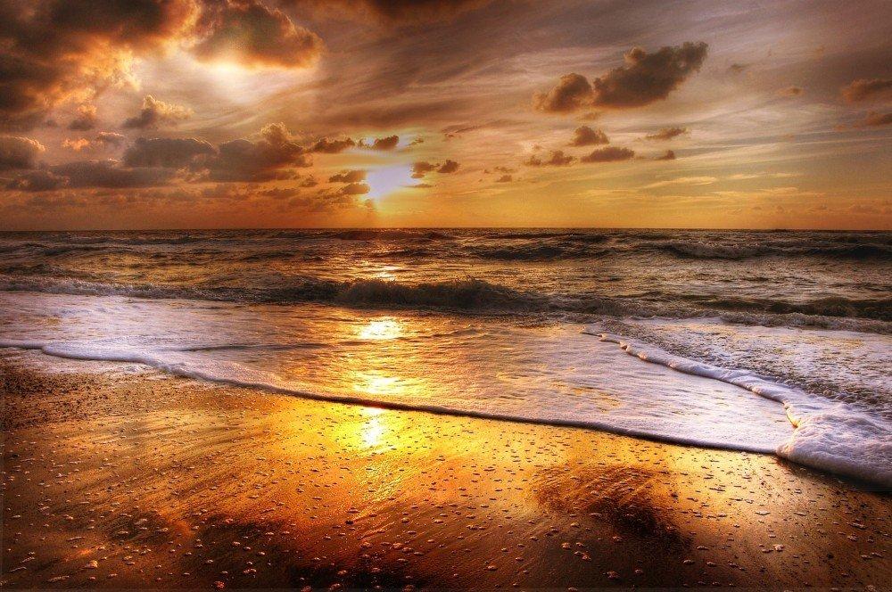 Abend am Meer ohne Heuschnupfen