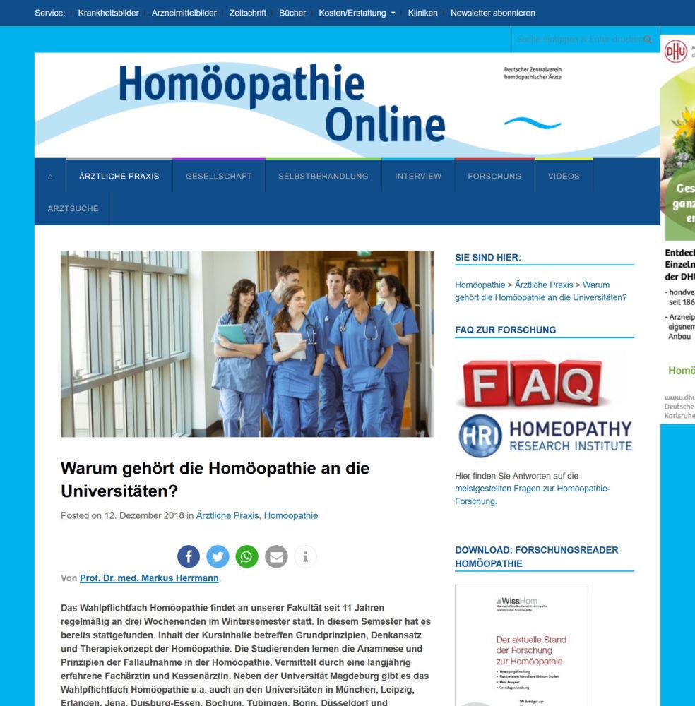 Homöopathie an der Universität